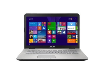 "Ноутбук (ASUS N751JX-T7215T 17.3""(1920x1080 (матовый))/Intel Core i7 4750HQ(2Ghz)/8192Mb/1000Gb/DVDrw/Ext:nVidia GeForce GTX950M(4096Mb)/Cam/BT/WiFi/56WHr/war 2y/2.7kg/Metal Steel Grey/W10)"