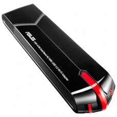 Адаптер (ASUS WiFi Adapter USB USB-AC68 (USB3.0, WLAN 1900Mbps Dual-band 2.4GHz+5.1GHz, 802.11ac) 2x ext.Antena)