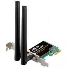 Адаптер (ASUS WiFi Adapter PCI-E PCE-AC51 (PCI-Ex1, Dual-band (2.4GHz/5GHz), WLAN 750Mps, 802.11ac, +LowProfile) 2x ext Antenna)